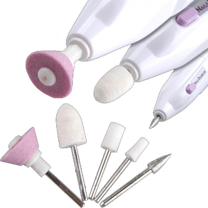 Εργαλεία νυχιών για Μανικιούρ & Πεντικιούρ 5 εξαρτημάτων με Στεγνωτήρα Nails Decorator M-809