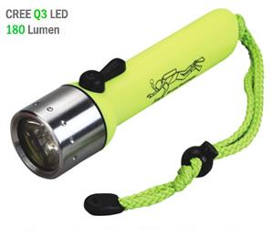 Καταδυτικός φακός 180 lumens CREE Q3 LED FLASHLIGHT DIVING