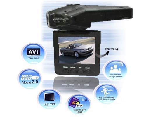 Κάμερα καταγραφικό αυτοκινήτου HD DVR με LCD 2,5'' - Ανίχνευση Κίνησης & Νυχτερινή Λήψη Oddvans ODD-H198
