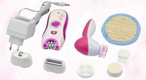Επανασφορτιζόμενη αποτριχωτική μηχανή  – ξυριστική και μασάζ  6 σε 1 Kemei KM-3066
