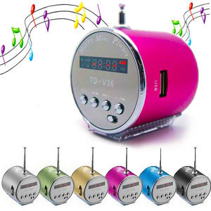 Mini MP3 Player - Fm Radio Aluminum Speaker 3w με Φωτισμό Led twochannels STD-S11