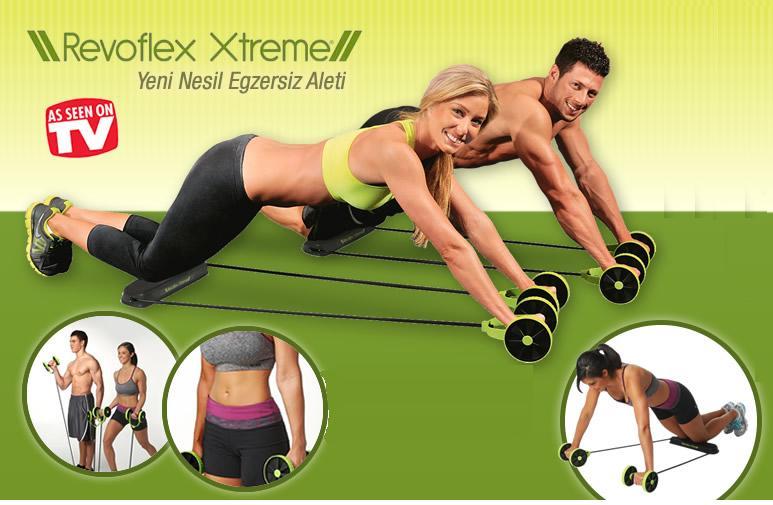 Όργανο γυμναστικής πολλαπλών χρήσεων αντίστασης με ρόδες Revoflex Xtreme