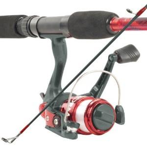 Καλάμι ψαρέματος 2,10 m με μηχανάκι και φακό led κεφαλής reel combo