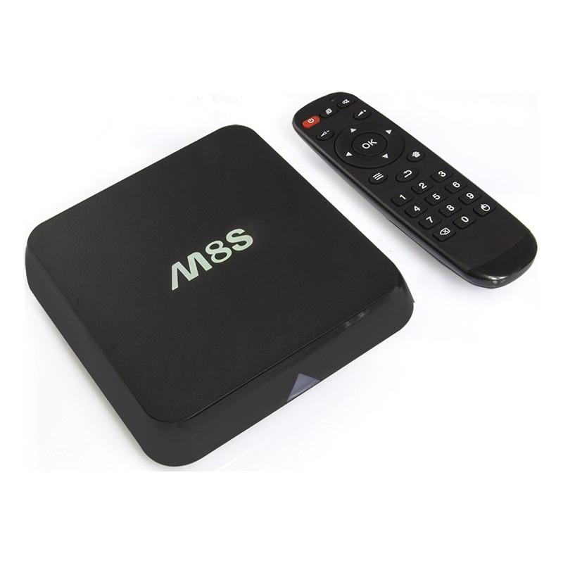 Mini Android TV Box 4K Ultra HD Quad Core με Playstore OTT M8S KODI