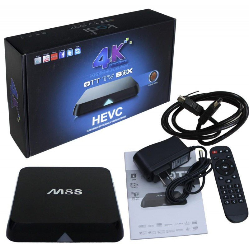 ​Mini Android TV Box 4K Ultra HD Quad Core με Playstore OTT M8S KODI