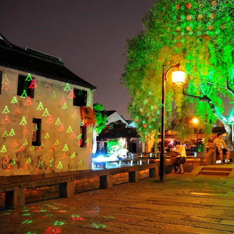 Νυχτερινός Γιορτινός Φωτισμός 120mW Με Χριστουγεννιάτικα Θέματα OEM Xmas Laser Projector