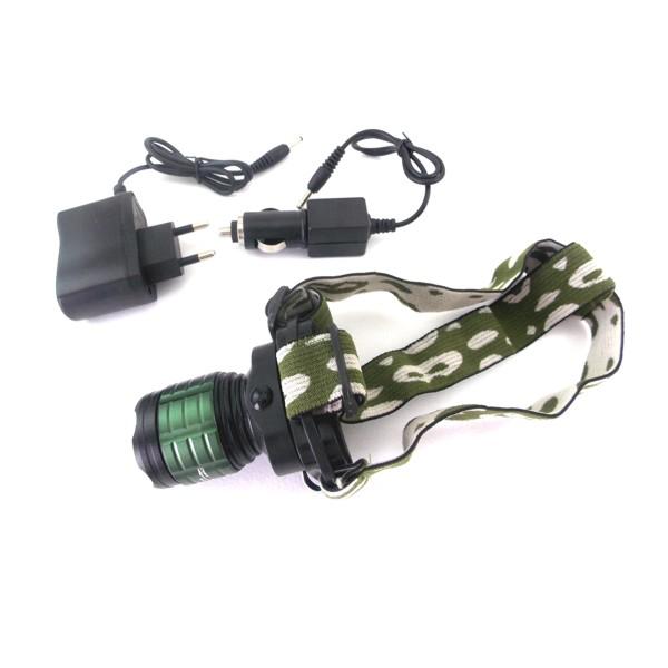 Επαναφορτιζόμενος φακός κεφαλής LED με zoom 2000W POLICE BL-6808