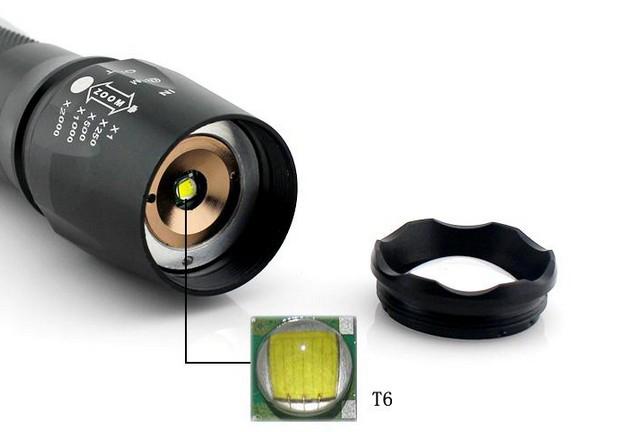 Εξαιρετικά δυνατός Φακός 8000 Watt με μπαταρία 18650 / 4.200 mah Wins Fire LED CREE T6