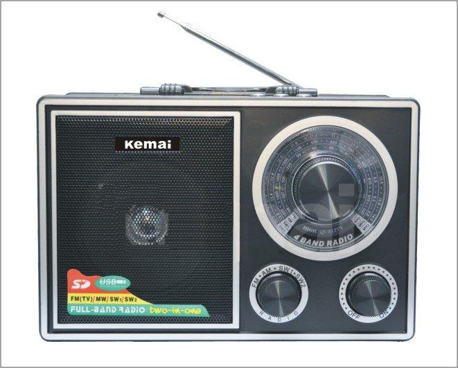 Φορητό επαναφορτιζόμενο FM ραδιόφωνο  / SD / USB MC CARD PLAYBACK MP3 PLAYER  KEMAI MD-210