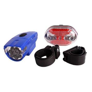 Φώτα Ποδηλάτου 8 LED εμπρός συν πίσω φως ασφαλείας με Kόκκινα 5 LED KAIKUO KK-830