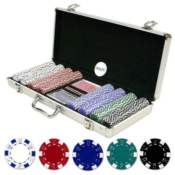Μεταλλικό Βαλιτσάκι Πόκερ με 400 Μάρκες Casino 11,5g  - 2 Τράπουλες & 5 Ζάρια