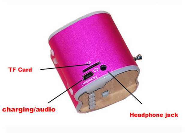 Mini ψηφιακό ραδιόφωνο -  ηχείο μήλο  Mini USB Speake T-2012