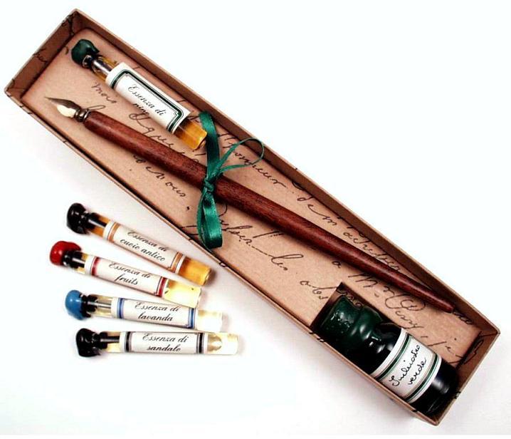 Πένα Κονδυλοφόρος με μελάνι και αξεσουάρ γραφής στυλ αντίκα FRANCESCO RUBINATO 22 PIPO