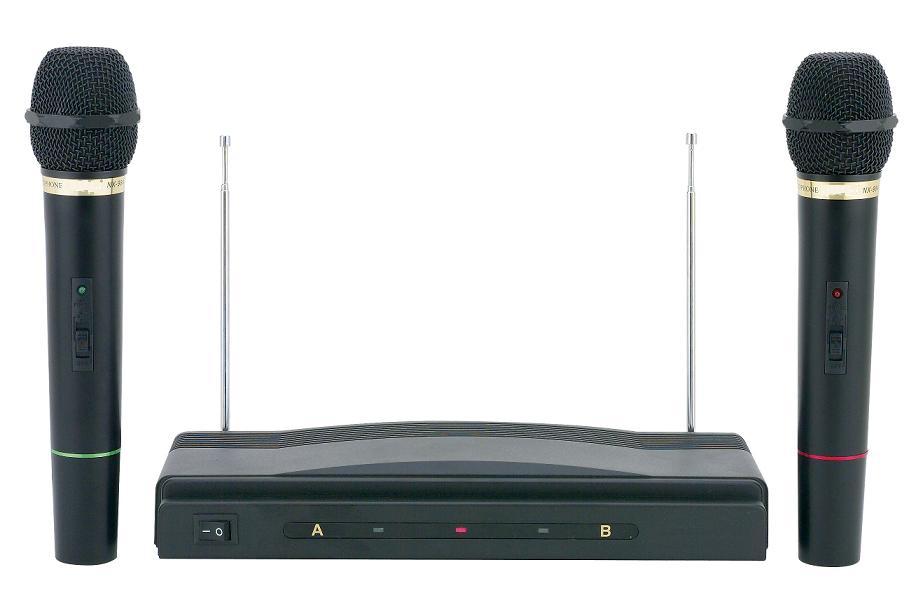Συσκευή Karaoke με Δύο Ασύρματα Μικρόφωνα wireless AT-307