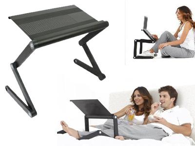 Πτυσσόμενο Τραπεζάκι με δύο ανεμιστήρες Βάση Laptop - Smart Foldable Τ6 Table