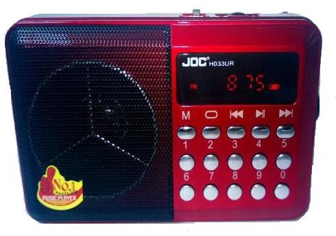 Ραδιόφωνο ψηφιακό 3W Επαναφορτιζόμενο με αναπαραγωγή mp3 από sd & usb JOC H033U