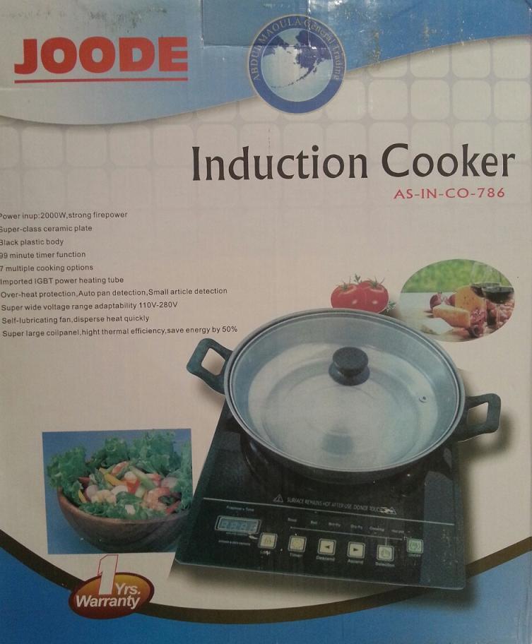 Επαγωγική μαγειρική εστία 2000W Μονή Ηλεκτρική Φορητή JOODE INDUCTION COOKER AS-IN-CO-786