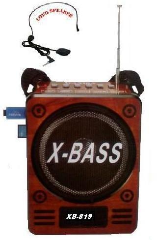 Φορητό Ραδιόφωνο Mp3 player επαναφορτιζόμενη μπαταρία με δέκτη FM, υποδοχή για USB, SD, micro SD κάρτα WAXIBA XB-819 REC