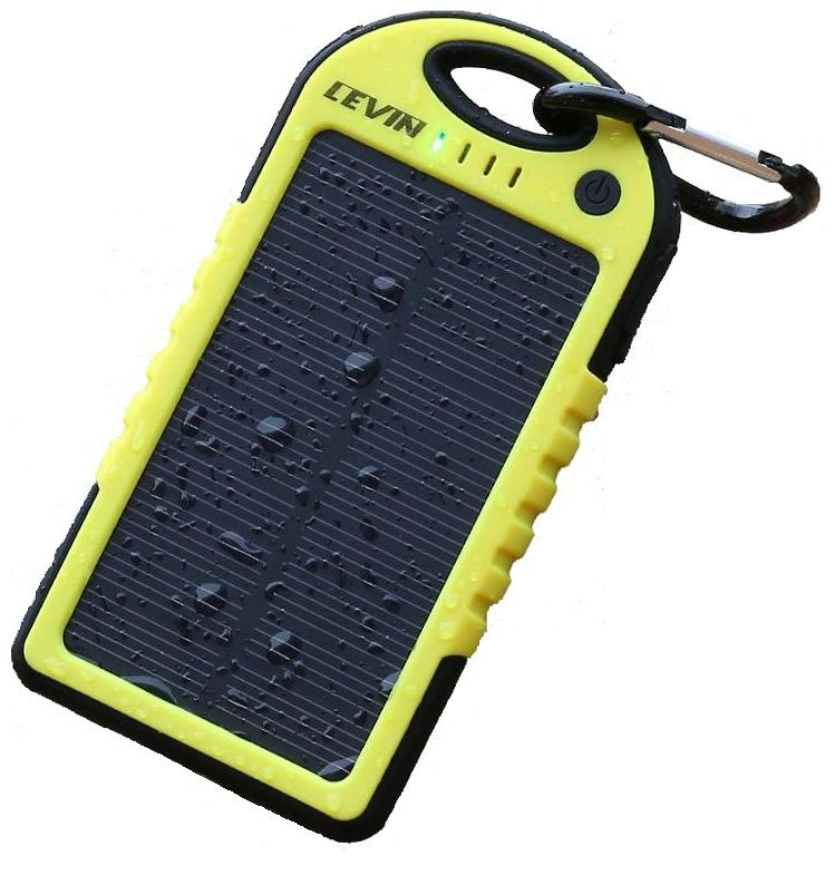 Ηλιακός φορτιστής αδιάβροχος αντικραδασμικός για κινητά -mp3 - mp4 -pda - camera - 5000 mAh power bank