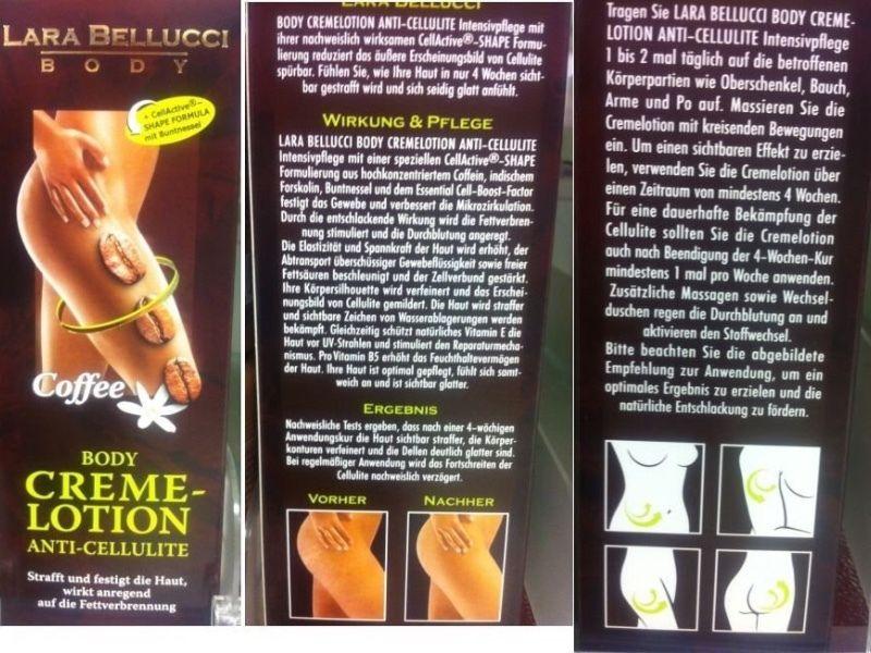 Κρέμα κατά της κυτταρίτιδας 200ml με εκχύλισμα καφεΐνης και αγριοκαστανιάς Lara Bellucci Scrub 200ml
