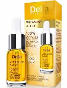 Ορός 100% Serum Προσώπου με βιταμίνες A + E + F Delia Cosmetics