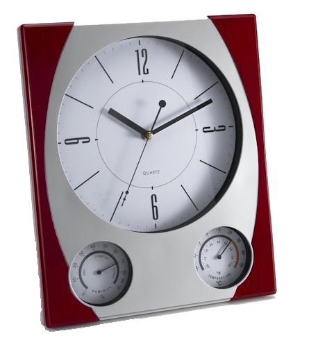 Ρολόι τοίχου 29 cm με υγρόμετρο και θερμόμετρο Oscar 7933