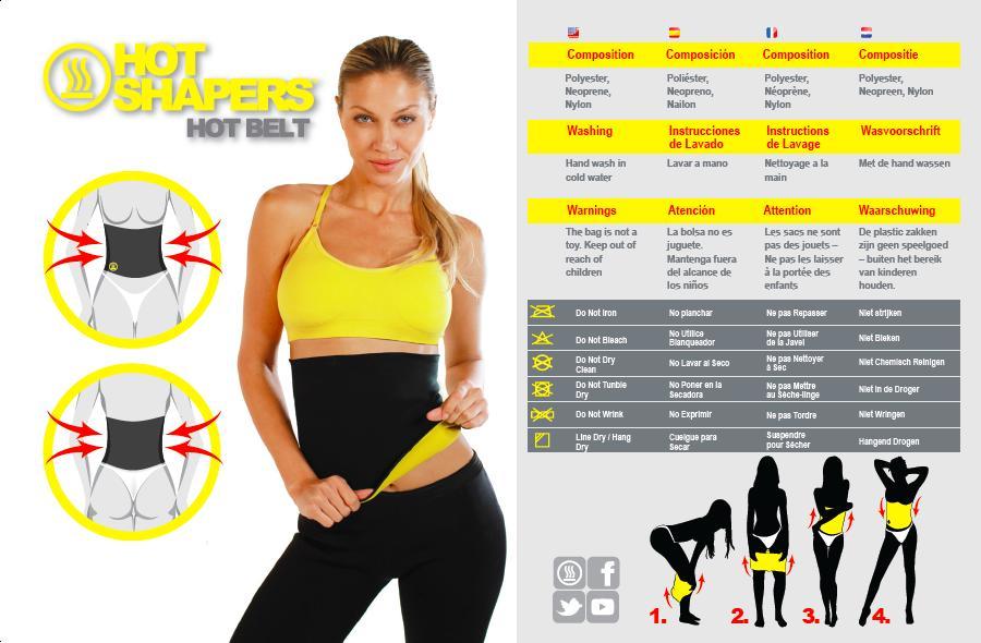 Ζώνη Εφίδρωσης αδυνατίσματος για το στομάχι και την κοιλιά Hot Shapers