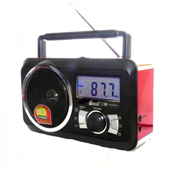 Φορητό Ραδιόφωνο FM & Music Player - Recorder with USB/SD card Speaker FP-910-RC