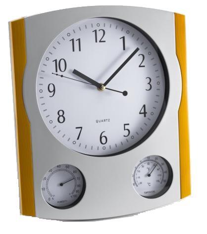 Ρολόι τοίχου 30 cm με υγρόμετρο και θερμόμετρο Oscar 7905
