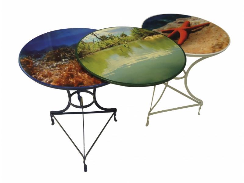 Τραπέζι καφενείου μεταλλικό 60 cm ηλεκτροστατικής βαφής Ελληνική Κατασκευής Nardimaestral Décor G
