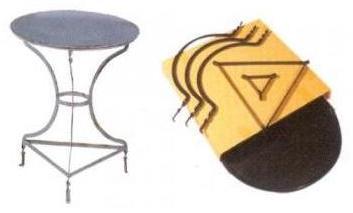 Τραπέζι καφενείου μεταλλικό λυόμενο Φ 0,60 cm ηλεκτροστατικής βαφής Ελληνική Κατασκευής  nardimaestral
