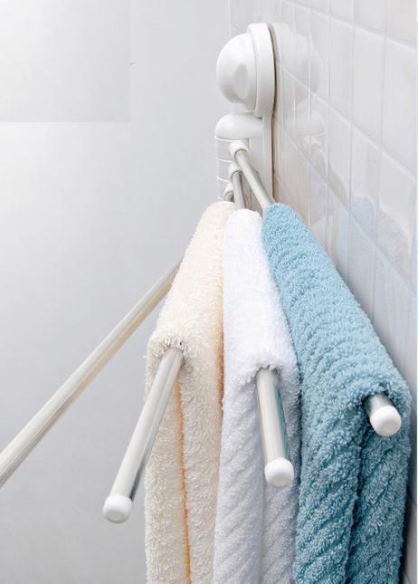 Απλώστρα 4 Θέσεων για Πετσέτες Μπάνιου με Βεντούζες