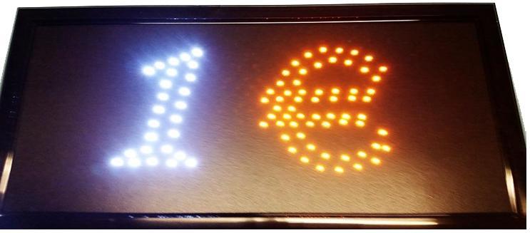 """Φωτιζόμενη πινακίδα με κίνηση """" 1 € """" OEM"""