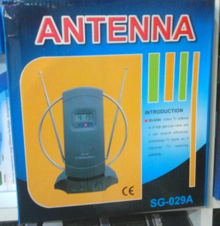 Κεραία τηλεόρασης εσωτερική ψηφιακή DVB-T με ενισχυτή και ψηφιακό ρολόι SG-029A OEM