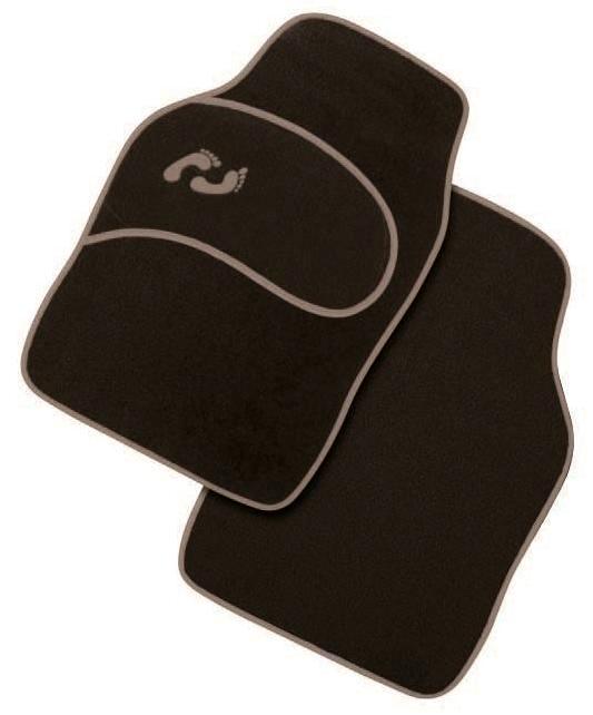 Πατάκια - Μοκέτα αυτοκινήτου μαύρο-γκρί 4 τεμ. CAR MAT C4521