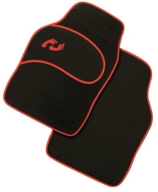 Πατάκια - Μοκέτα αυτοκινήτου μαύρο-κόκκινο 4 τεμ. CAR MAT C4521