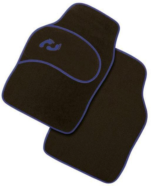 Πατάκια - Μοκέτα αυτοκινήτου μαύρο - μπλέ 4 τεμ. CAR MAT C4521