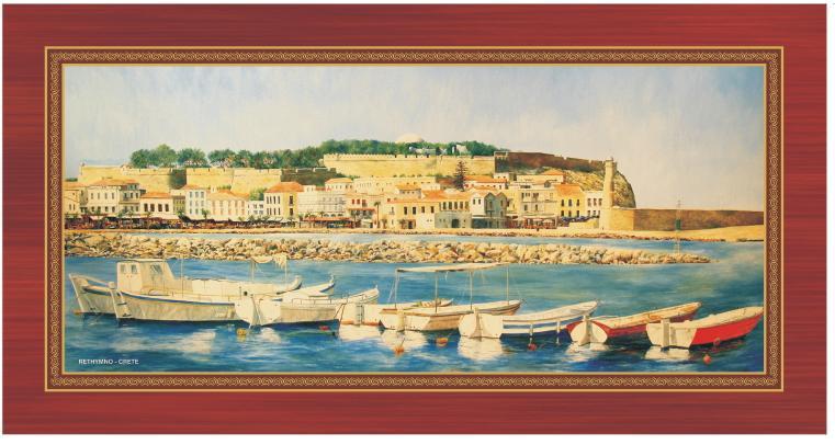 Τάβλι Γκράβουρα Αγιος Νικόλαος 40X40X7 cm τύπου φορμάικα 1048ΓΚΑ
