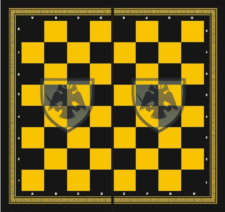 Τάβλι - Σκάκι ΑΕΚ 50X50X7 cm τύπου φορμάικα 1048ΓΚΑΕΚ