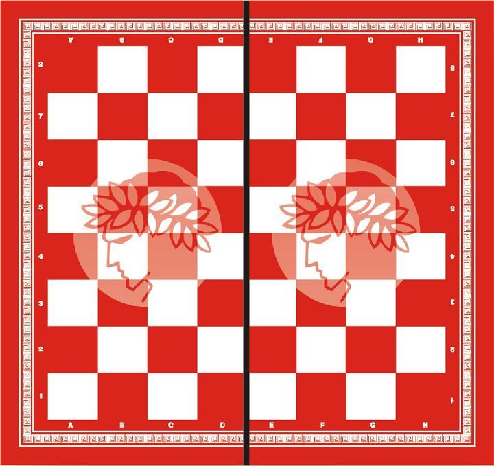 Τάβλι - Σκάκι ΟΛΥΜΠΙΑΚΟΣ 50X50X7 cm τύπου φορμάικα 1048ΓΚΟΣΦΠ