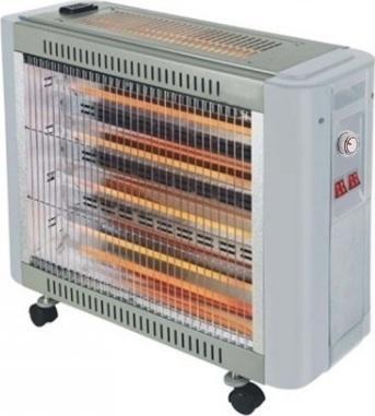 Θερμάστρα Χαλάζια με Ανεμιστήρα & Υγραντήρα 2800W SILVER QT82-2S