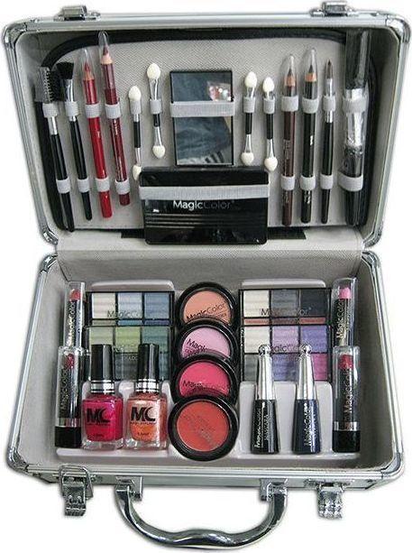 Βαλιτσάκι Μακιγιάζ με Καλλυντικά, Πινέλα, Μανό & Καθρεφτάκι Magic Color Make Up Kit OEM 4264