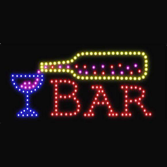 """Φωτιζόμενη πινακίδα με κίνηση """"BAR"""" OEM"""