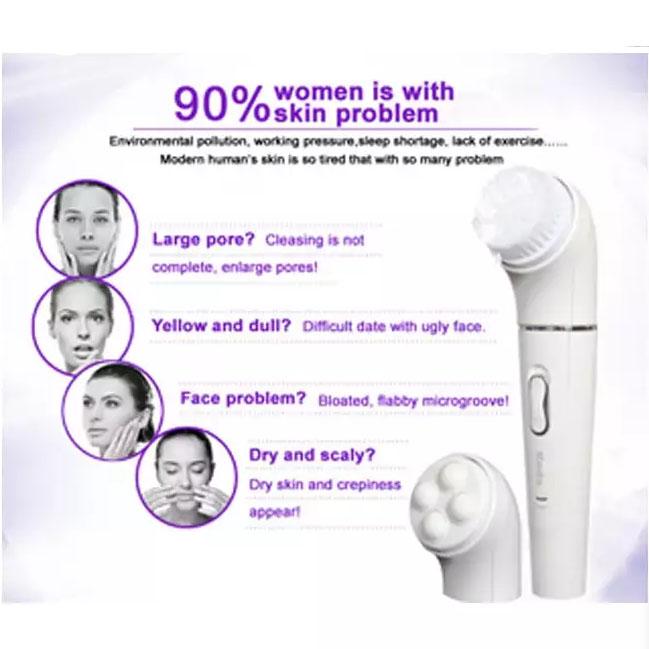Γυναικεία συσκευή αποτρίχωσης - ξυριστική με βούρτσα καθαρισμού, μασάζ και αφαίρεσης κάλων KEDA 199