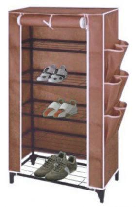 Ντουλάπα - Παπουτσοθήκη Φορητή Υφασμάτινη Καφέ 90 X 60 X 30 cm