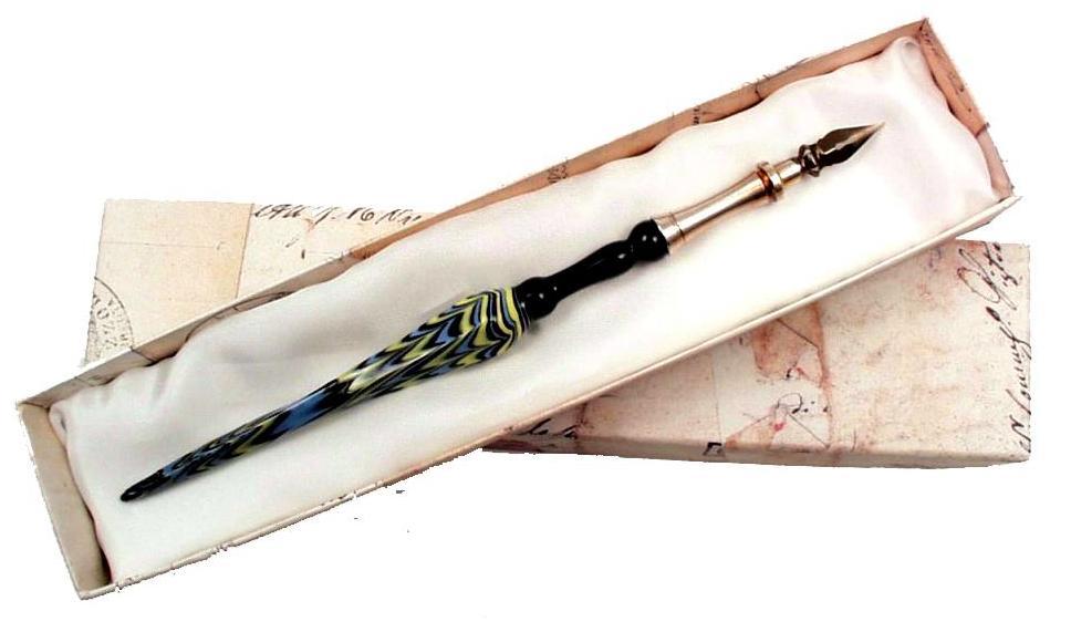 Πένα καλλιγραφίας από γυαλί Murano FRANCESCO RUBINATO 20-ALF