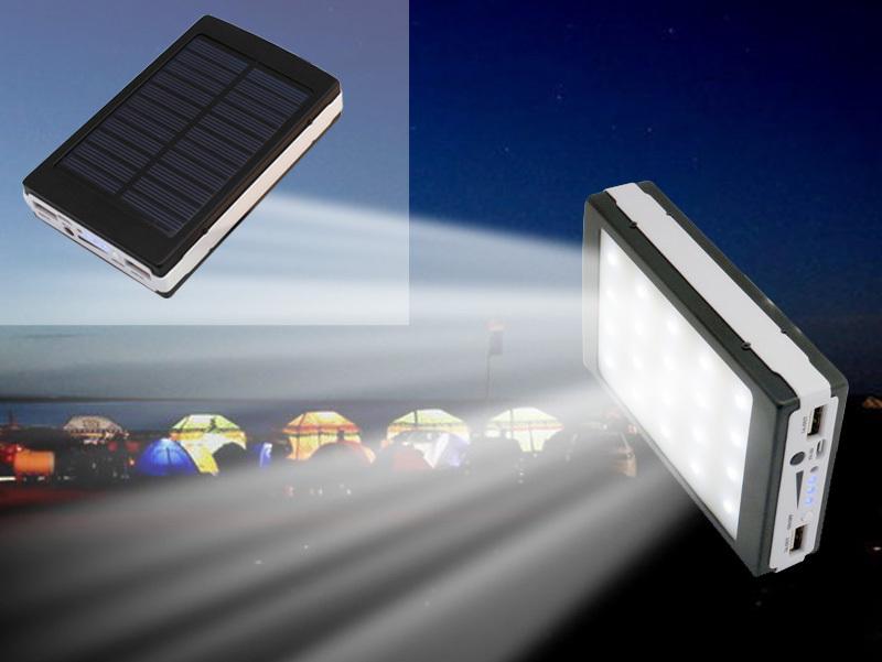 Power bank με ηλιακό φορτιστή και φακός 20 Led 38000 mAh OEM HY-708
