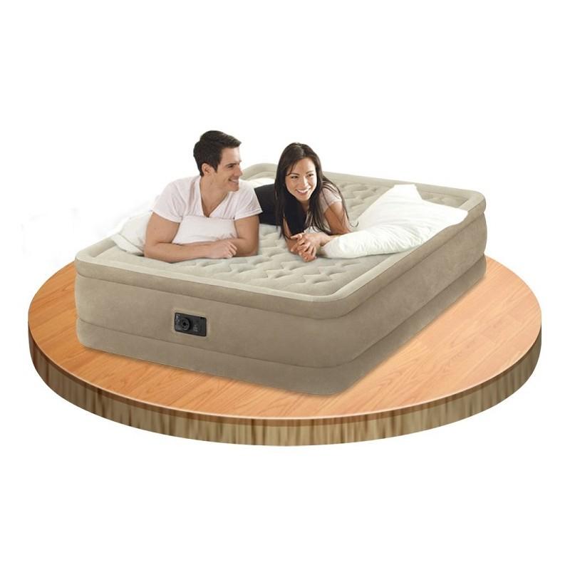 Στρώμα ύπνου 152x203x46cm με τρόμπα και σάκο μεταφοράς INTEX Ultra Plush Bed 64458