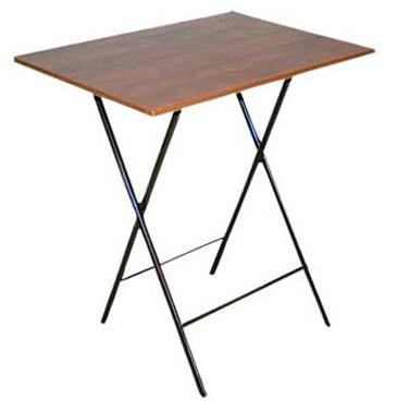 Τραπέζάκι αναδιπλούμενο μελαμίνης 40X60 cm ηλεκτροστατικής βαφής βάση χιαστί Ελληνική Κατασκευής Nardimaestral