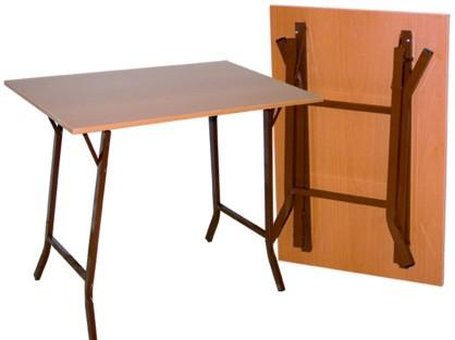 Τραπέζάκι αναδιπλούμενο μελαμίνης 60X100 cm ηλεκτροστατικής βαφής βάση ΜΠΡΙΤΖ Ελληνική Κατασκευής Nardimaestral